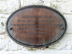 Photo of Charles Dickens bronze plaque