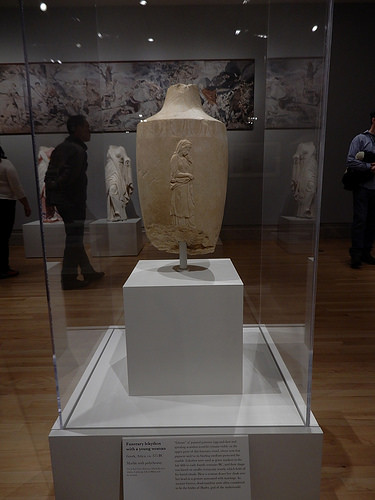 DSCN0047 _ Funerary lekythos with a young woman, c 375BC - Gods in Color