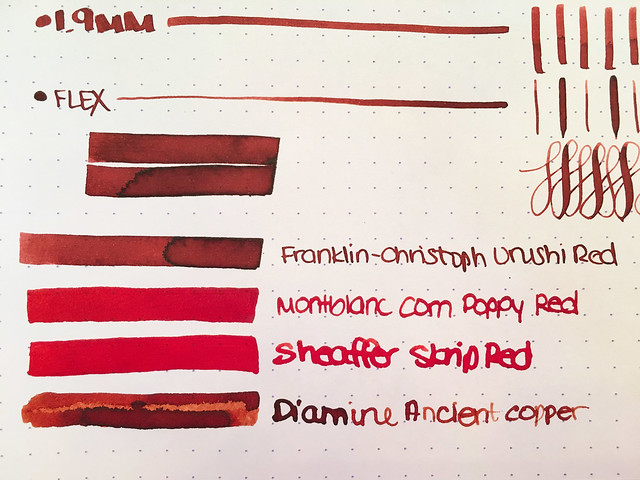 Ink Shot Review Franklin-Christoph Urushi Red @1901FC 4