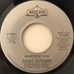 TAANA GARDNER:HEARTBEAT(LABEL SIDE-A)
