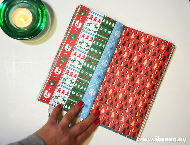Spread in Christmas Junk Journal no 1 hand made by iHanna  #christmasjournal
