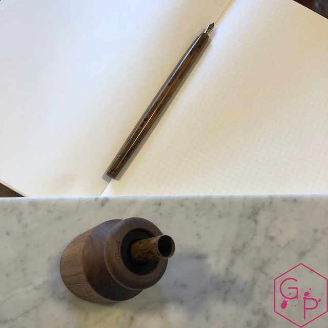 Review @PenwellCo Walnut Pen Desk Stand 12