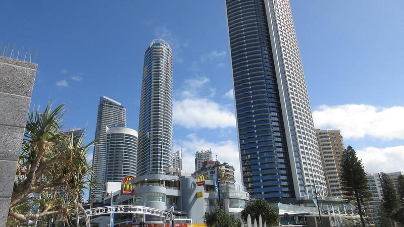 Blue Sky tall buildings Surfers Paradise