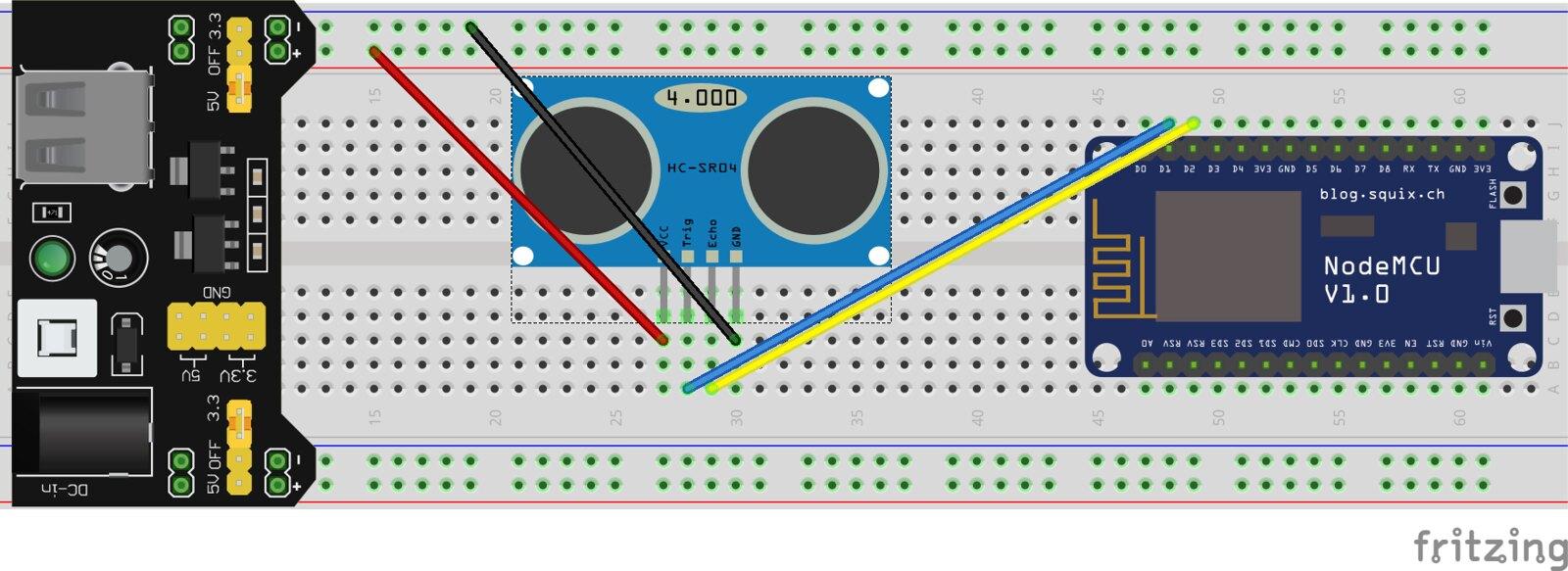 NodeMCU + Ultrasonic Sensor - Always reading zero - Everything ESP8266