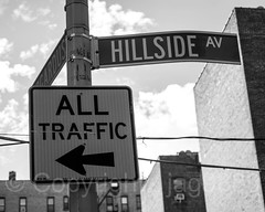 HILLSIDE AV Street Name Sign, Fort George, New York City