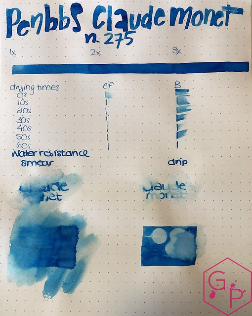 Ink Shot Review PenBBS Claude Monet @cohobbyist 10