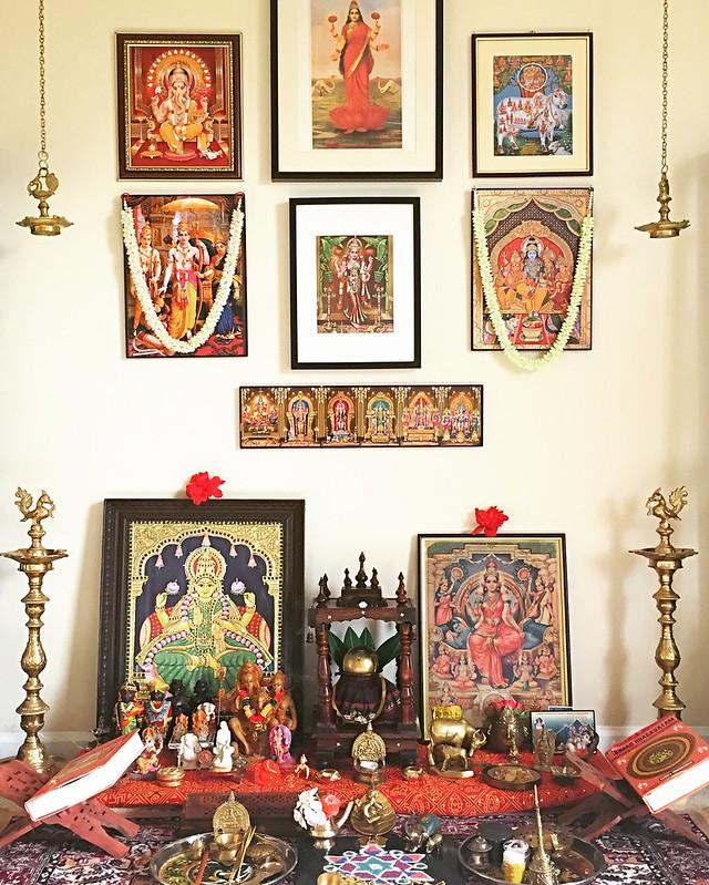 Serene pooja room