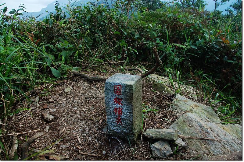 真笠山東南峰台灣省政府圖根補點(Elev. 1252 m)