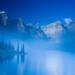 Foggy morning at Moraine Lake. (OC) (1200x800)