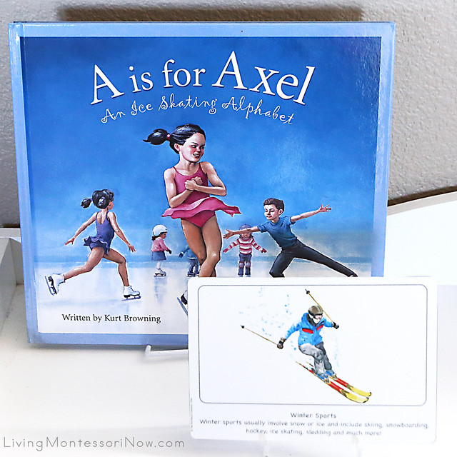 A is for Axel Book with Winter Sports Culture Card