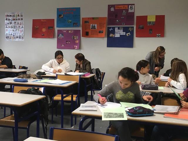 Dispositif « Devoirs faits » au collège Victoire Daubié et au collège Les Côtes (Ain)