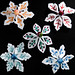 winter project - snowflake brooches :)