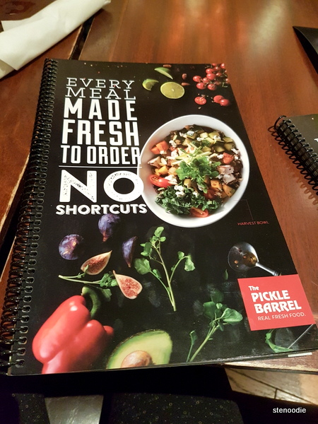 The Pickle Barrel menu cover