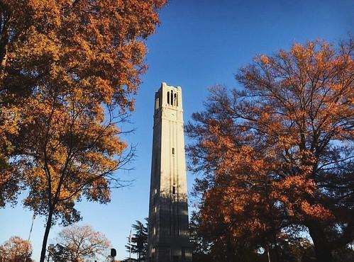 Autumn scene on campus