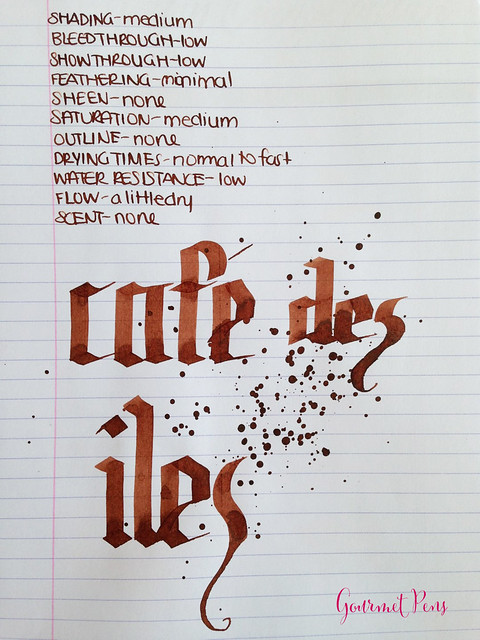 Ink Shot Review J. Herbin Café des îles @KnightsWritingC 6