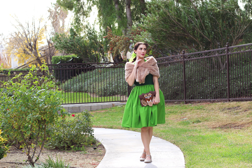 Vintage Inspired by Jackie Atomic Jax Belle Disneybound Green Dress