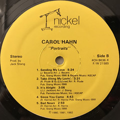 CAROL HAHN:PORTRAITS(LABEL SIDE-B)