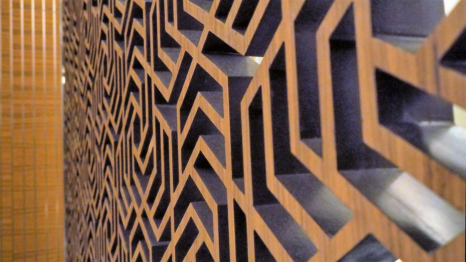 Wooden wall at Feast @ Sheraton Petaling Jaya Hotel