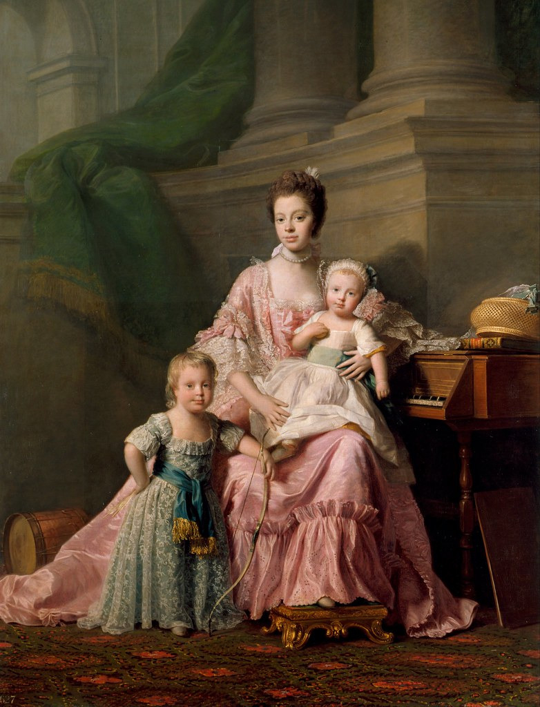 Allan Ramsay - Queen Charlotte (1744-1818), with her Two Eldest Sons (c.1766)