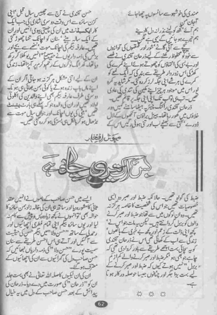 Bas Ik Teri Chah Hay Complete Novel By Mehwish Iftikhar