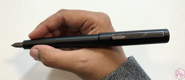 Review Lamy Aion Fountain Pen - Black & Olive Silver @AppelboomLaren 6