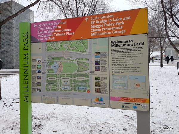 Millennium Park sign