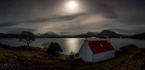 Red Roof by Moonlight