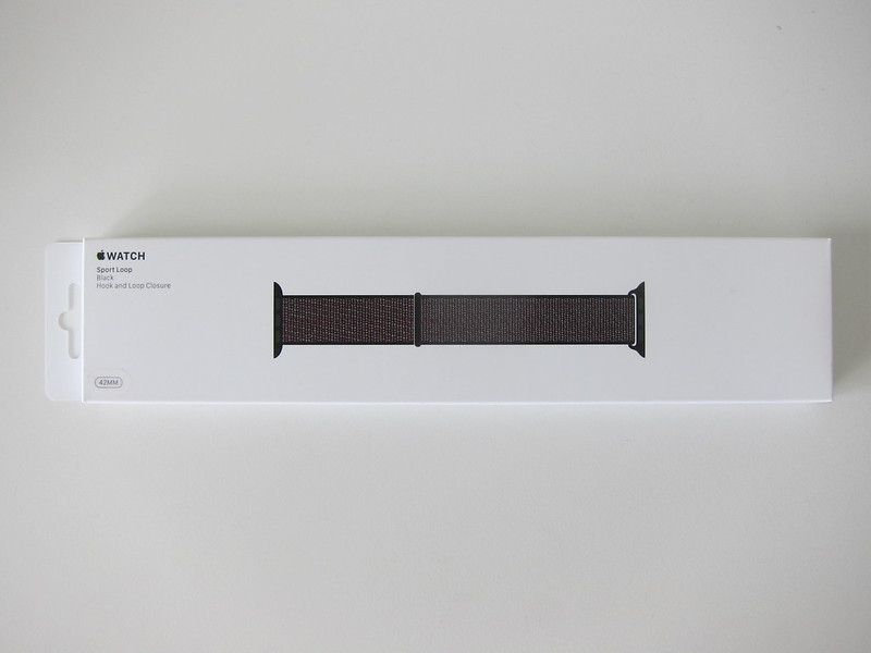 Apple Watch 42mm Black Sport Loop - Box Front