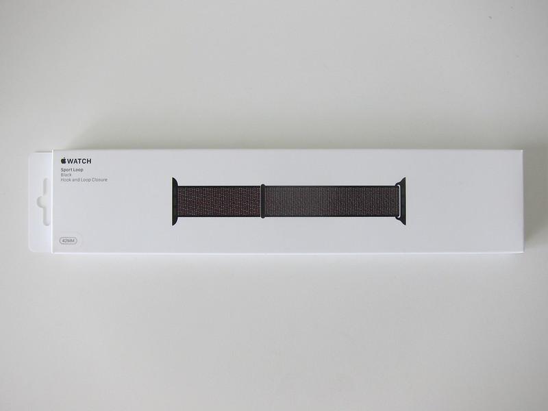 Apple Watch 42mm Black Sport Loop - Box Front