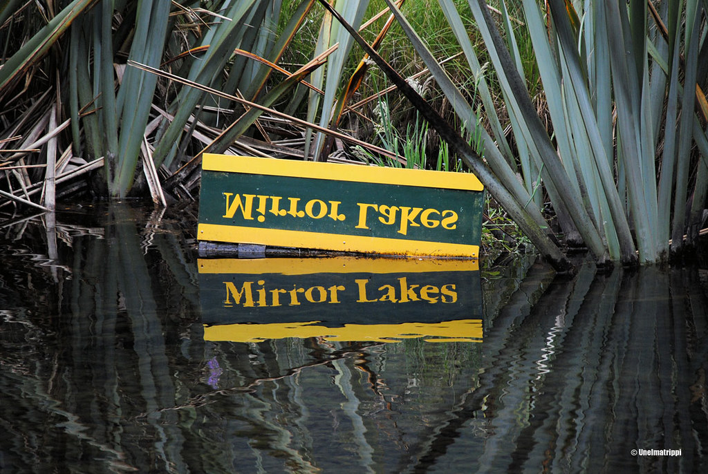 Mirror Lakes, Milford Sound Highway, Uusi-Seelanti