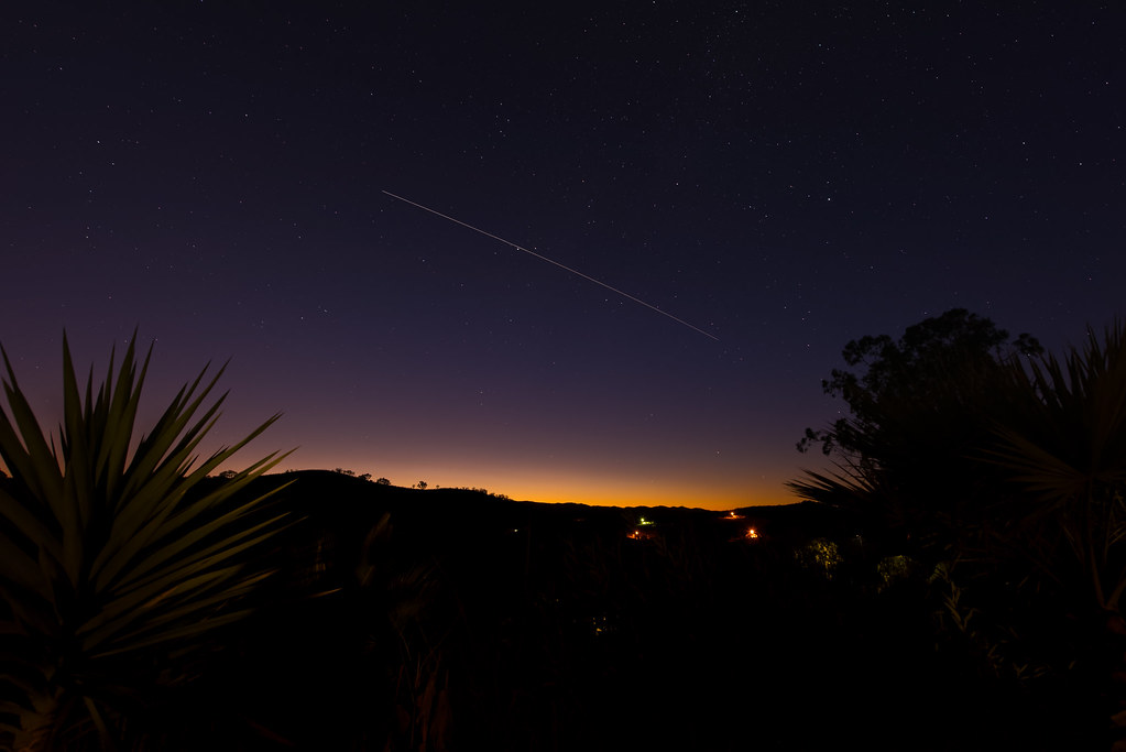International Space Station (ISS) at Twilight
