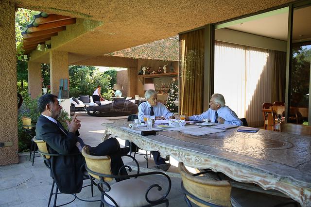 Ministro Fernández y subsecretario Aleuy en reunión de coordinación y trabajo con presidente electo Sebastián Piñera   22.12.17