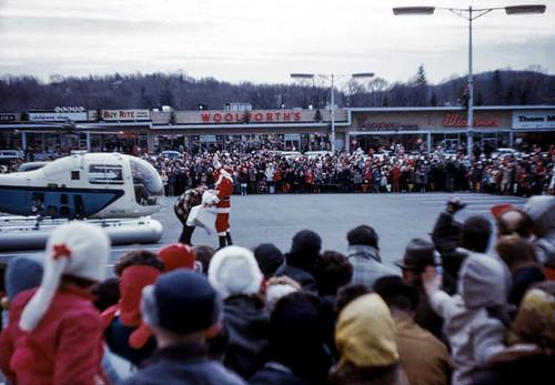 Santa Arrives at the Beach Shopping Center 1963