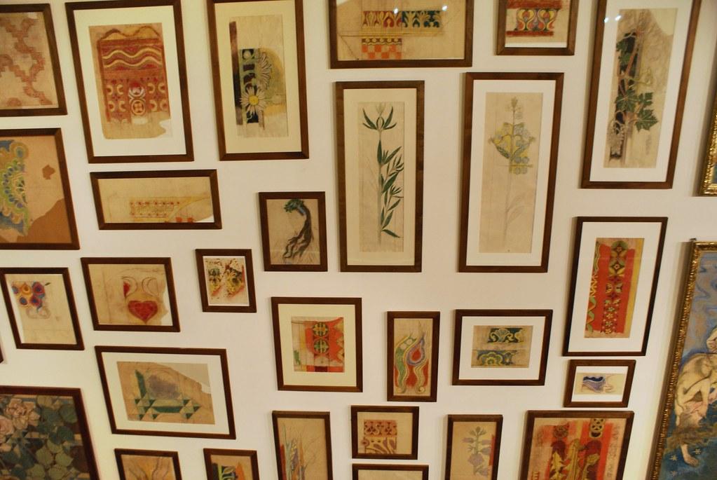 Divers dessins et motifs de Wyspianski - Musée National de Cracovie.