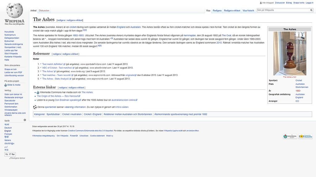 mer om ashes wiki