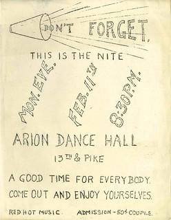 Dance poster, 1929