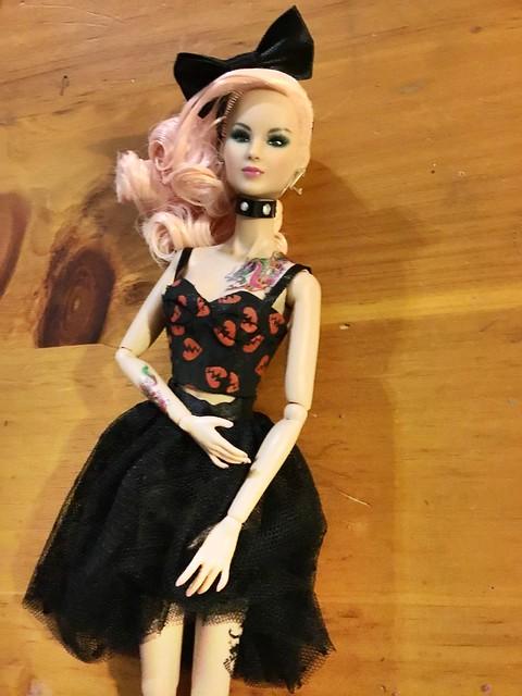 Custom Liu Liu in wonderland style lab fashions.
