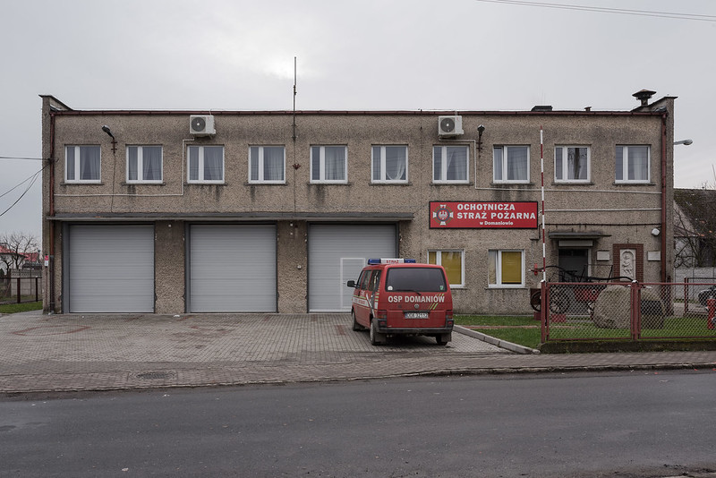 Firestation and banquet hall, Domaniów, 01.01.2018