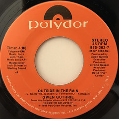 GWEN GUTHRIE:OUTSIDE IN THE RAIN(LABEL SIDE-A)