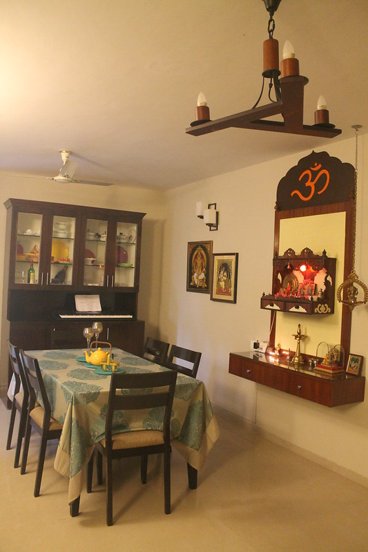 #4 A WALL MOUNTED POOJA ROOM DESIGN