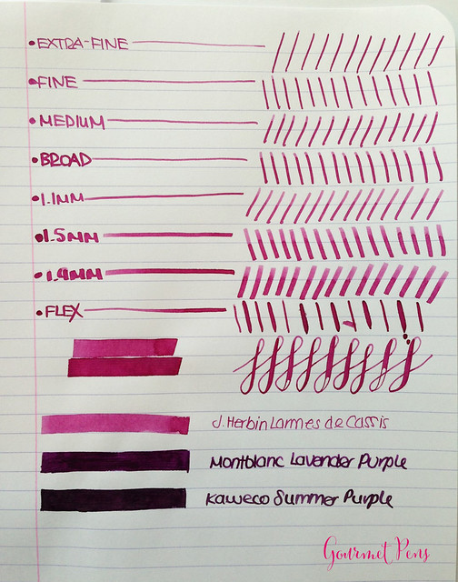 Ink Shot Review J. Herbin Larmes de Cassis @KnightsWritingC 5