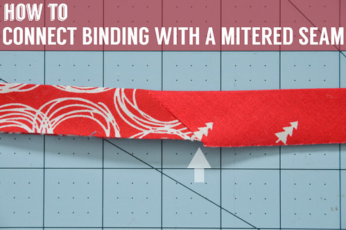 How To Connect Binding With a Mitered Seam