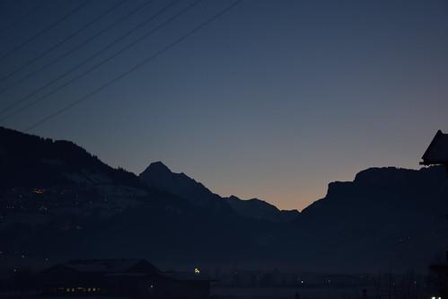 mountain zillertal dusk sunset