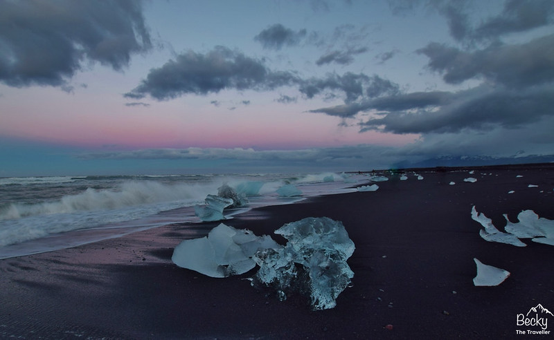 Planning a trip to Iceland - Icebergs on Diamond Beach on south coast of Iceland