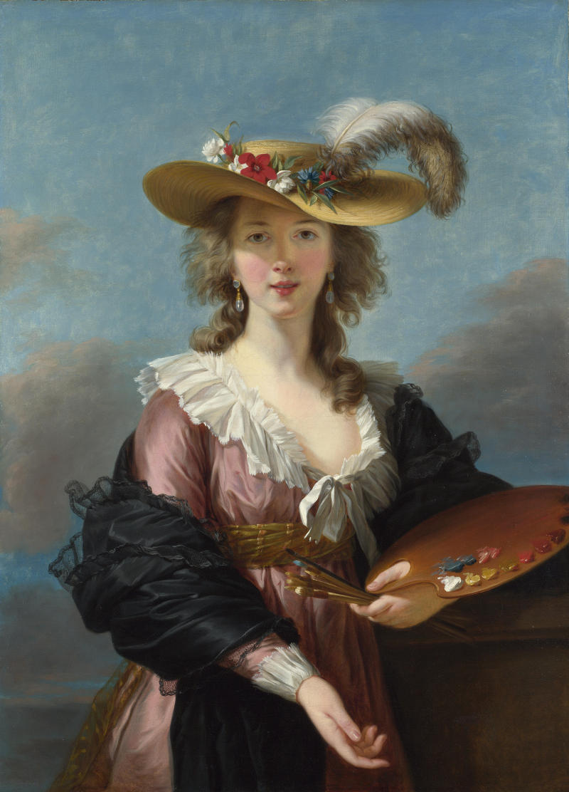 Self-portrait in a Straw Hat, 1782