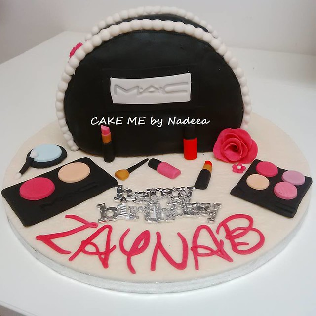 MAC Make Up Themed Chocolate Cake from CAKE ME by Nadeea