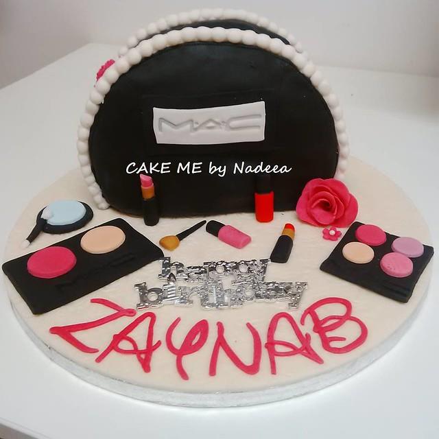 MAC Make Up Themed Chocolate Cake from CAKE ME by Nadeea