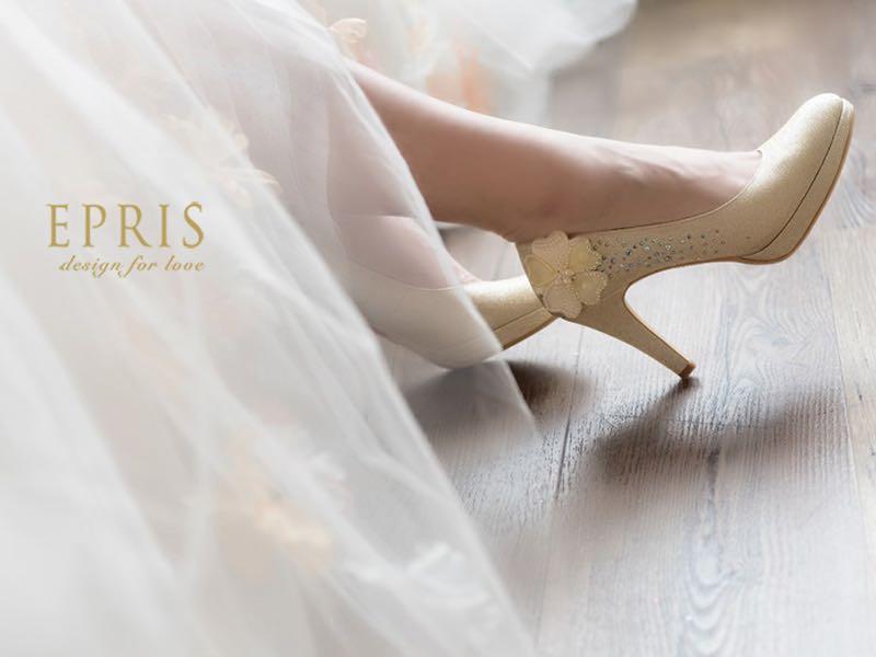 金色圓頭婚鞋婚宴鞋