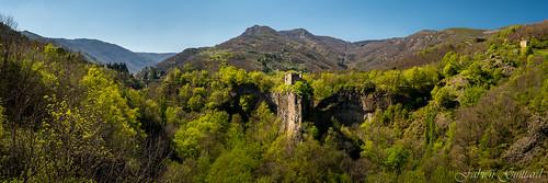 Eperon de Pourcheyrolles, Ardèche, France, panorama