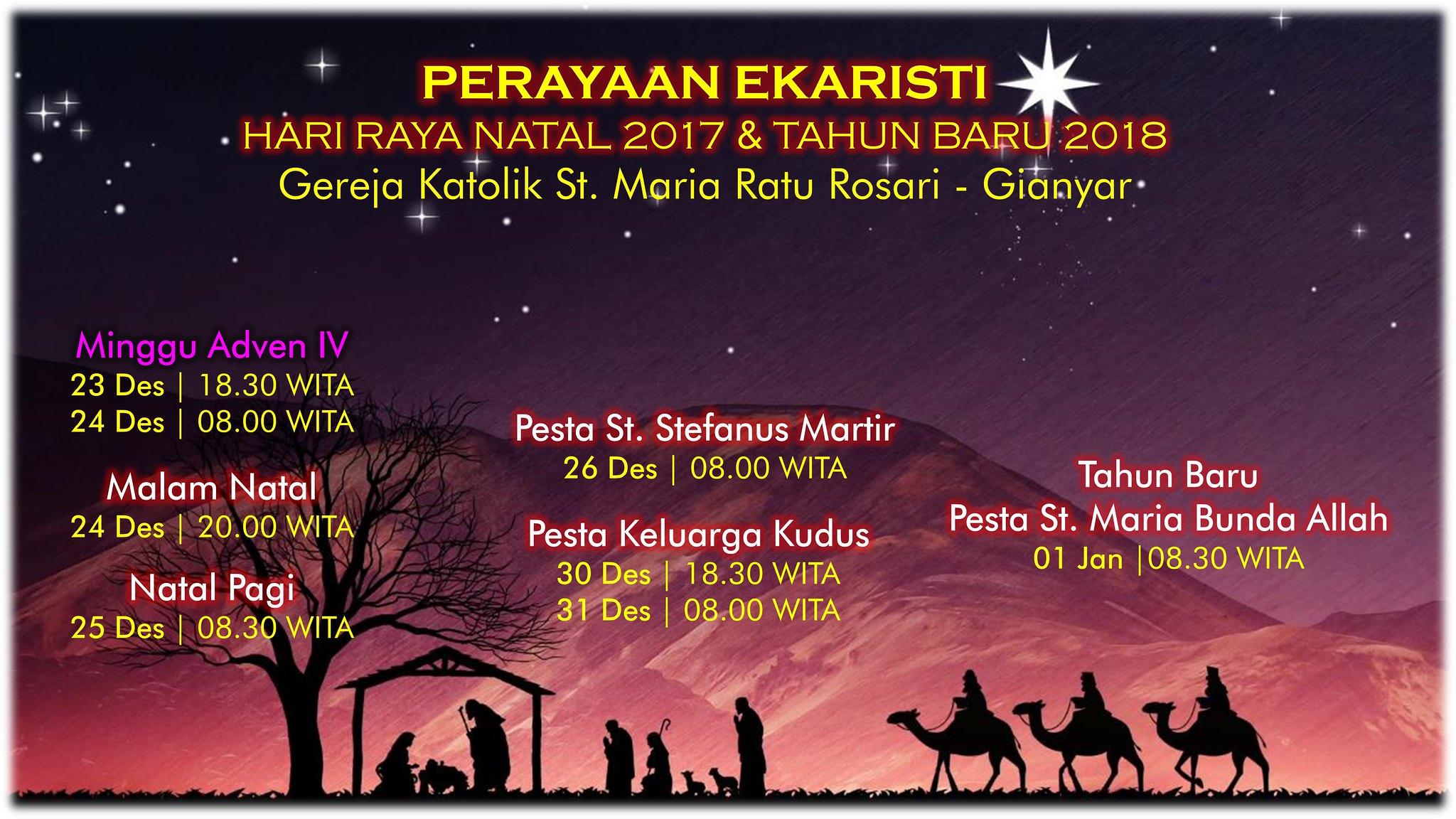Jadwal Liturgi Oktaf Natal
